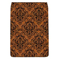 DAMASK1 BLACK MARBLE & RUSTED METAL Flap Covers (L)