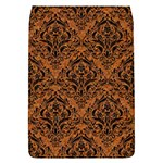 DAMASK1 BLACK MARBLE & RUSTED METAL Flap Covers (L)  Front