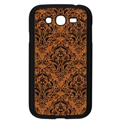 Damask1 Black Marble & Rusted Metal Samsung Galaxy Grand Duos I9082 Case (black) by trendistuff