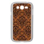 DAMASK1 BLACK MARBLE & RUSTED METAL Samsung Galaxy Grand DUOS I9082 Case (White) Front