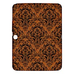 Damask1 Black Marble & Rusted Metal Samsung Galaxy Tab 3 (10 1 ) P5200 Hardshell Case