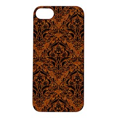 Damask1 Black Marble & Rusted Metal Apple Iphone 5s/ Se Hardshell Case by trendistuff