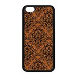 DAMASK1 BLACK MARBLE & RUSTED METAL Apple iPhone 5C Seamless Case (Black) Front