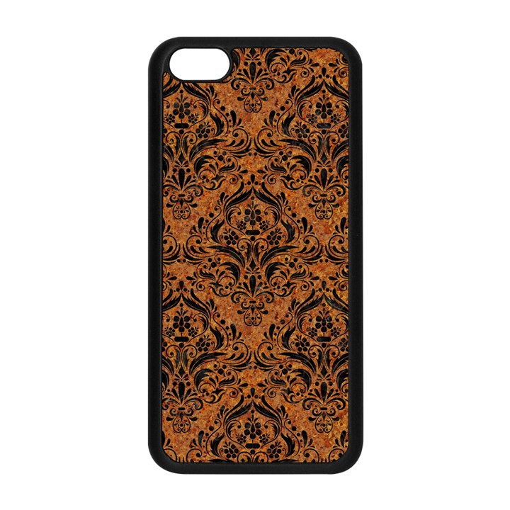 DAMASK1 BLACK MARBLE & RUSTED METAL Apple iPhone 5C Seamless Case (Black)