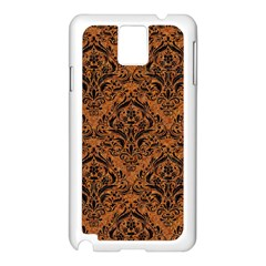 DAMASK1 BLACK MARBLE & RUSTED METAL Samsung Galaxy Note 3 N9005 Case (White)