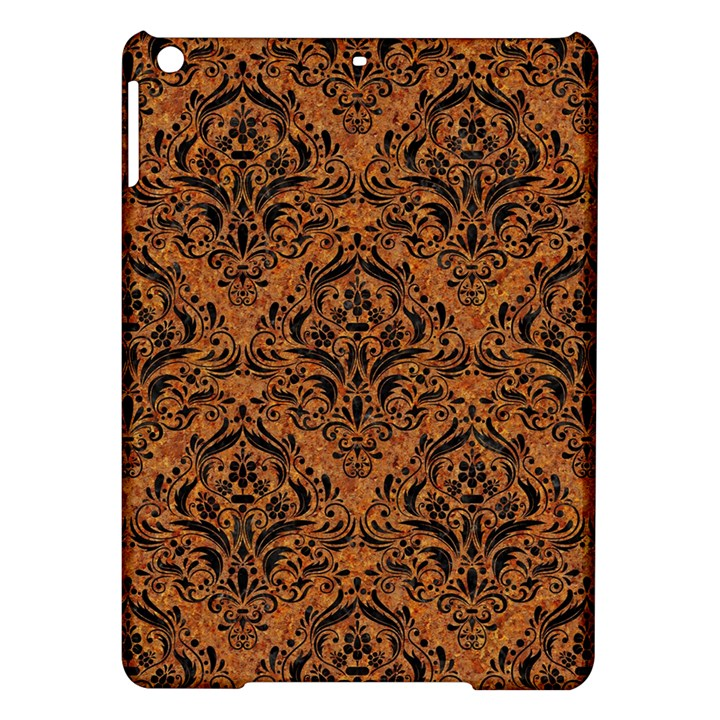 DAMASK1 BLACK MARBLE & RUSTED METAL iPad Air Hardshell Cases