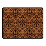 DAMASK1 BLACK MARBLE & RUSTED METAL Double Sided Fleece Blanket (Small)  45 x34 Blanket Back