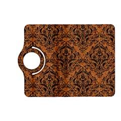 Damask1 Black Marble & Rusted Metal Kindle Fire Hd (2013) Flip 360 Case by trendistuff