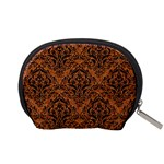 DAMASK1 BLACK MARBLE & RUSTED METAL Accessory Pouches (Small)  Back