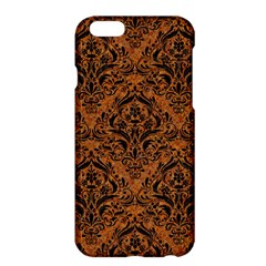 Damask1 Black Marble & Rusted Metal Apple Iphone 6 Plus/6s Plus Hardshell Case by trendistuff