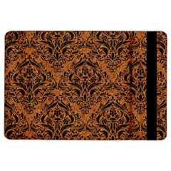Damask1 Black Marble & Rusted Metal Ipad Air 2 Flip