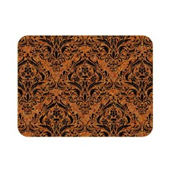 Damask1 Black Marble & Rusted Metal Double Sided Flano Blanket (mini)