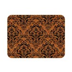 DAMASK1 BLACK MARBLE & RUSTED METAL Double Sided Flano Blanket (Mini)  35 x27 Blanket Back