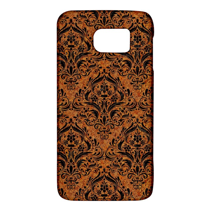 DAMASK1 BLACK MARBLE & RUSTED METAL Galaxy S6