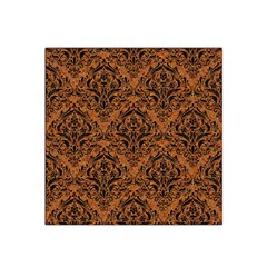 Damask1 Black Marble & Rusted Metal Satin Bandana Scarf