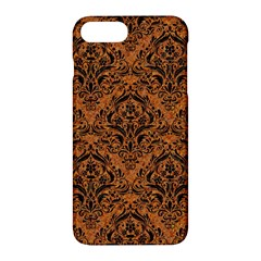 Damask1 Black Marble & Rusted Metal Apple Iphone 7 Plus Hardshell Case by trendistuff
