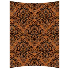 Damask1 Black Marble & Rusted Metal Back Support Cushion by trendistuff