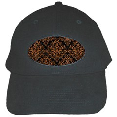 Damask1 Black Marble & Rusted Metal (r) Black Cap