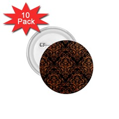 Damask1 Black Marble & Rusted Metal (r) 1 75  Buttons (10 Pack)