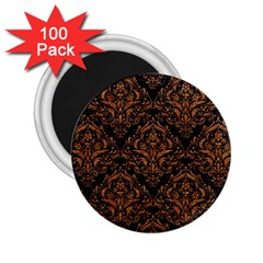 Damask1 Black Marble & Rusted Metal (r) 2 25  Magnets (100 Pack)  by trendistuff