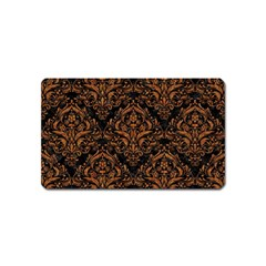 Damask1 Black Marble & Rusted Metal (r) Magnet (name Card) by trendistuff