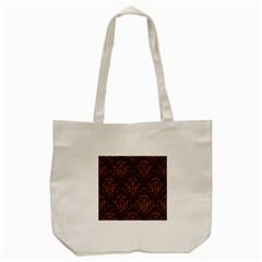 Damask1 Black Marble & Rusted Metal (r) Tote Bag (cream) by trendistuff