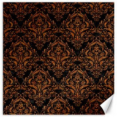 Damask1 Black Marble & Rusted Metal (r) Canvas 16  X 16