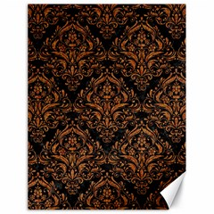 Damask1 Black Marble & Rusted Metal (r) Canvas 18  X 24   by trendistuff