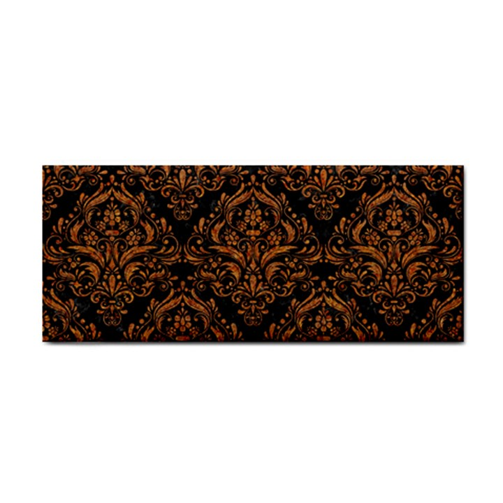 DAMASK1 BLACK MARBLE & RUSTED METAL (R) Cosmetic Storage Cases