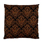 DAMASK1 BLACK MARBLE & RUSTED METAL (R) Standard Cushion Case (Two Sides) Back