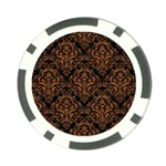DAMASK1 BLACK MARBLE & RUSTED METAL (R) Poker Chip Card Guard (10 pack) Back