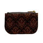 DAMASK1 BLACK MARBLE & RUSTED METAL (R) Mini Coin Purses Back