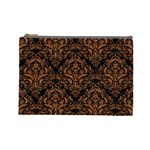 DAMASK1 BLACK MARBLE & RUSTED METAL (R) Cosmetic Bag (Large)  Front
