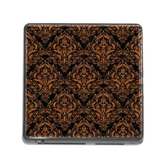 Damask1 Black Marble & Rusted Metal (r) Memory Card Reader (square) by trendistuff