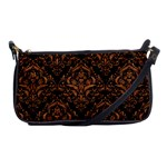 DAMASK1 BLACK MARBLE & RUSTED METAL (R) Shoulder Clutch Bags Front