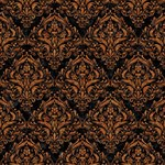 DAMASK1 BLACK MARBLE & RUSTED METAL (R) Magic Photo Cubes Side 4