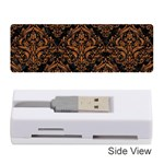 DAMASK1 BLACK MARBLE & RUSTED METAL (R) Memory Card Reader (Stick)  Front
