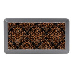 Damask1 Black Marble & Rusted Metal (r) Memory Card Reader (mini) by trendistuff