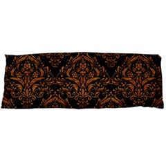 Damask1 Black Marble & Rusted Metal (r) Body Pillow Case (dakimakura) by trendistuff
