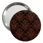 DAMASK1 BLACK MARBLE & RUSTED METAL (R) 3  Handbag Mirrors Front