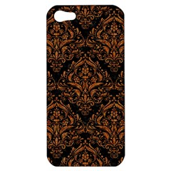 Damask1 Black Marble & Rusted Metal (r) Apple Iphone 5 Hardshell Case by trendistuff