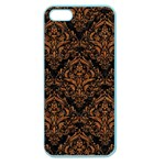 DAMASK1 BLACK MARBLE & RUSTED METAL (R) Apple Seamless iPhone 5 Case (Color) Front
