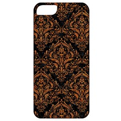 Damask1 Black Marble & Rusted Metal (r) Apple Iphone 5 Classic Hardshell Case by trendistuff