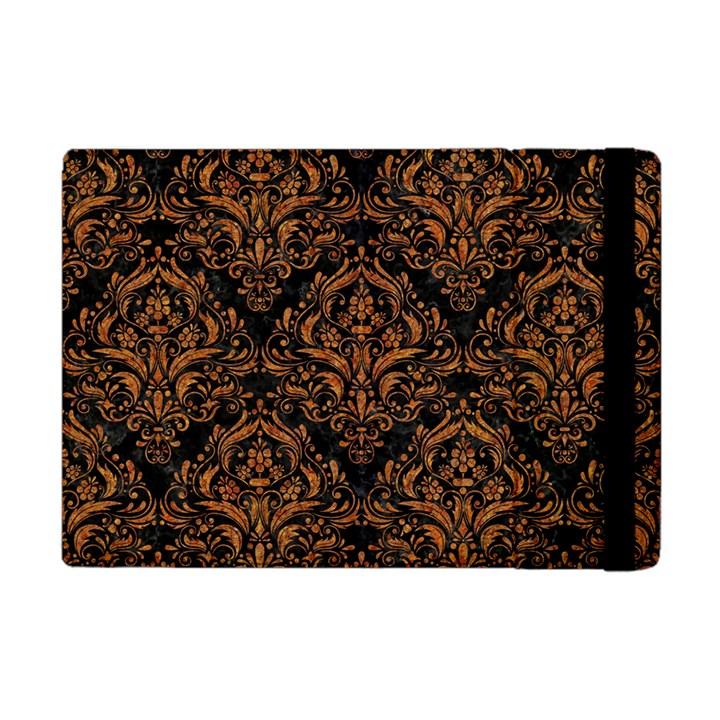 DAMASK1 BLACK MARBLE & RUSTED METAL (R) Apple iPad Mini Flip Case