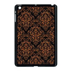 Damask1 Black Marble & Rusted Metal (r) Apple Ipad Mini Case (black) by trendistuff