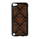 DAMASK1 BLACK MARBLE & RUSTED METAL (R) Apple iPod Touch 5 Case (Black) Front