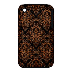 Damask1 Black Marble & Rusted Metal (r) Iphone 3s/3gs by trendistuff