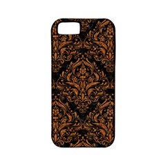 Damask1 Black Marble & Rusted Metal (r) Apple Iphone 5 Classic Hardshell Case (pc+silicone) by trendistuff