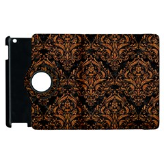 Damask1 Black Marble & Rusted Metal (r) Apple Ipad 2 Flip 360 Case by trendistuff