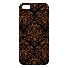 Damask1 Black Marble & Rusted Metal (r) Apple Iphone 5 Premium Hardshell Case by trendistuff